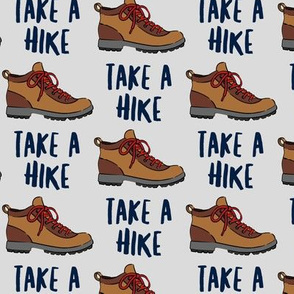 hiking - hiking boot - take a hike - grey LAD19