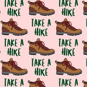 hiking - hiking boot - take a hike - pink LAD19
