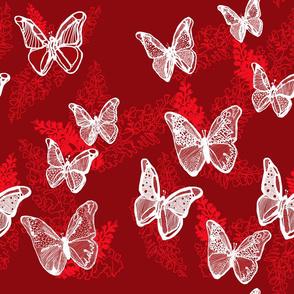 White Lace Butterflies