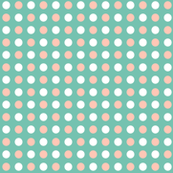 blush pink and mint polka dot
