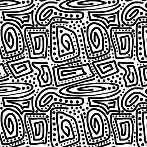 Primal Lines - black on white