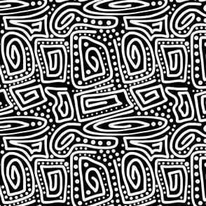 Primal Lines - white on black