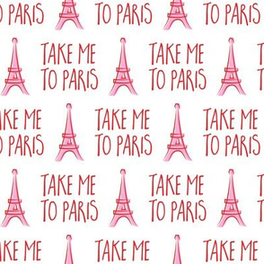 take me to Paris - the eiffel tower - red and pink - LAD19