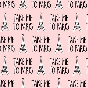 take me to Paris - the eiffel tower - pink - LAD19