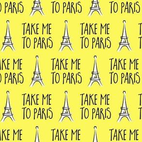 take me to Paris - the eiffel tower - yellow - LAD19