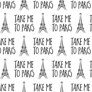 take me to Paris - the eiffel tower - grey - LAD19
