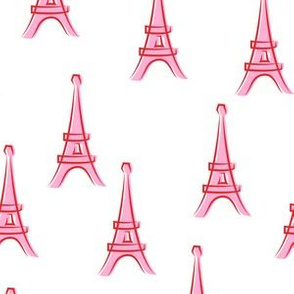 Eiffel Tower - take me to Paris - pink and red LAD19