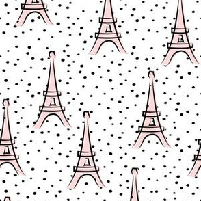 Eiffel Tower - take me to Paris - pink polka dots LAD19