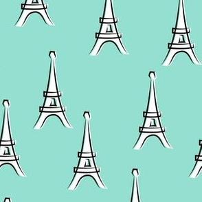 Eiffel Tower - take me to Paris - aqua LAD19