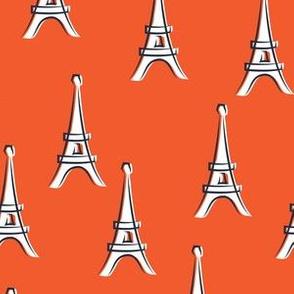Eiffel Tower - take me to Paris - red LAD19