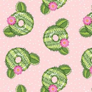 cactus donuts - doughnuts - summer - pink with polka dots - LAD19