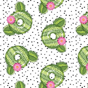 cactus donuts - doughnuts - summer - polka dots - LAD19