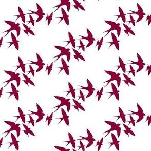 murmuration v2 (burgundy)