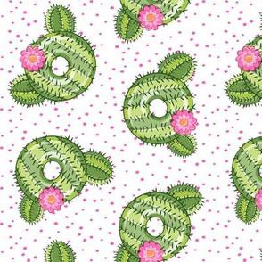 cactus donuts - doughnuts - summer - pink polka dots - LAD19