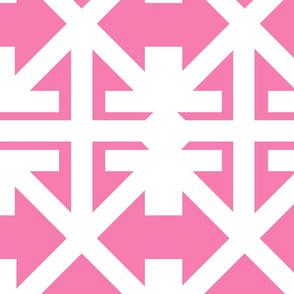 Super Mega Island Trellis in Think Pink