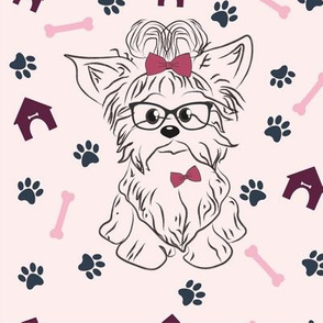 Yorkshire terrier pattern