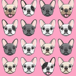 all the frenchies - French bulldog dog breed frenchie - pink - LAD19