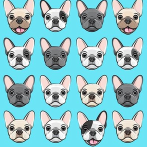 all the frenchies - French bulldog dog breed frenchie -  blue - LAD19
