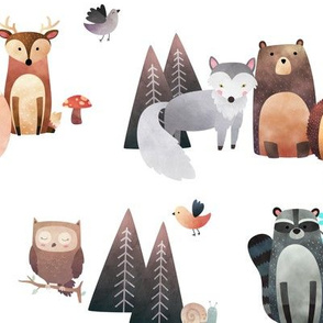 Woodland Critters – Life in the Forest, no words, LARGER scale