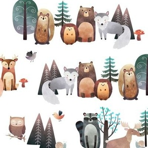 Woodland Critters – Life in the Forest, no words, SMALLER scale