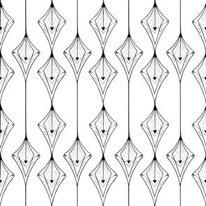 Downward Pinstripes