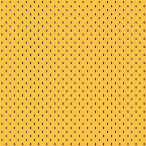 yellow background with pink blue dots