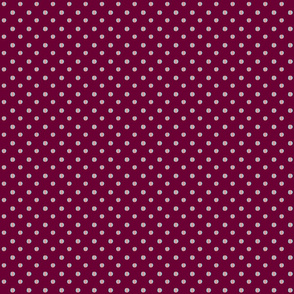burgundy background with blue pink dots