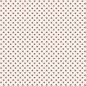 cream background with blue coral dashed dots