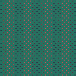 green background with blue coral dashed dots
