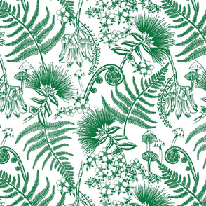 New Zealand Floral - Green