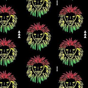 LION HEAD // REGGAE // RED YELLOW GREEN