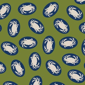 Crabs In Green and Blue