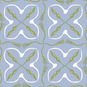 Seaweed and Seagulls in Geometric Layout