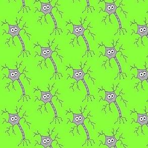 Cute Neuron - on green