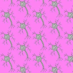Cute Neuron - on pink