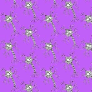 Cute Neuron - on purple