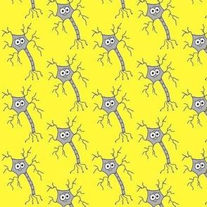 Cute Neuron - on yellow