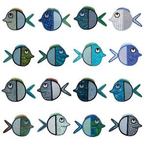 Appliqué Fish in shoals