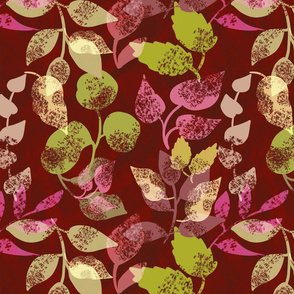 branches of autumn leaves