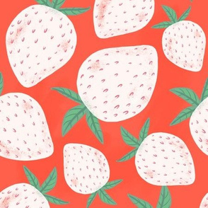 Pineberries (red background)