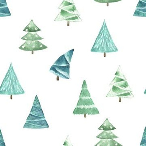 Christmas Pine Trees // White