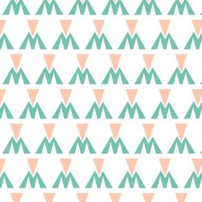 peach and mint geometric