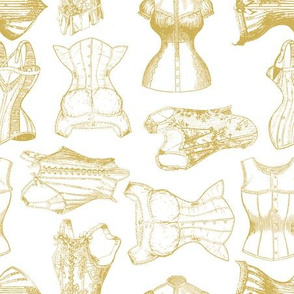 corsets soft gold