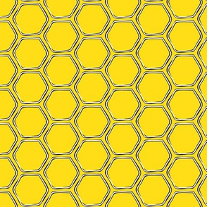 honeycomb - yellow and black - LAD19