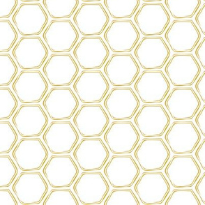 honeycomb - golden on white - LAD19
