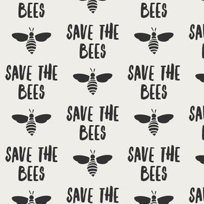 save the bees - grey on bone - LAD19