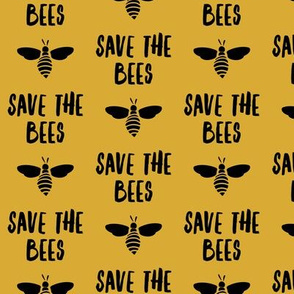 save the bees - golden and black - LAD19