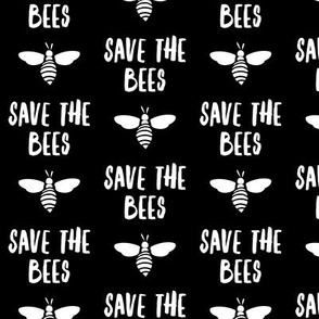 save the bees -  black - LAD19
