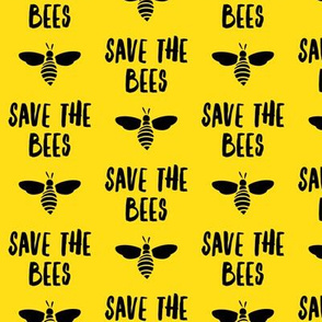 save the bees - black and yellow - LAD19