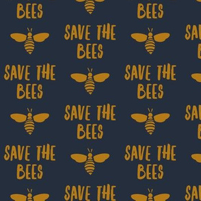 save the bees -  blue and gold - LAD19